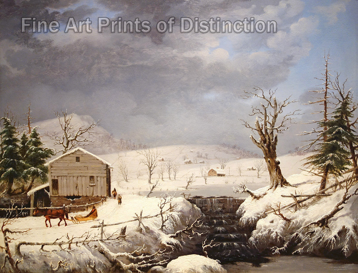 Winter in New England by George Henry Durrie