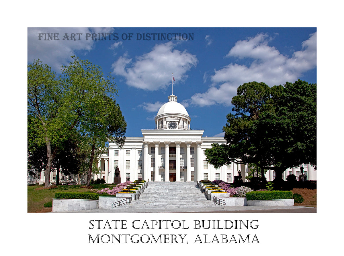 The Capitol Building at Montgomery Alabama Poster Style