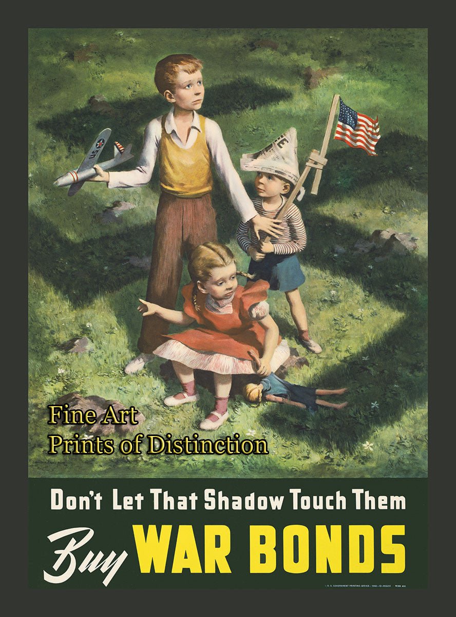 WWII Poster - Don't Let that Shadow Touch Them