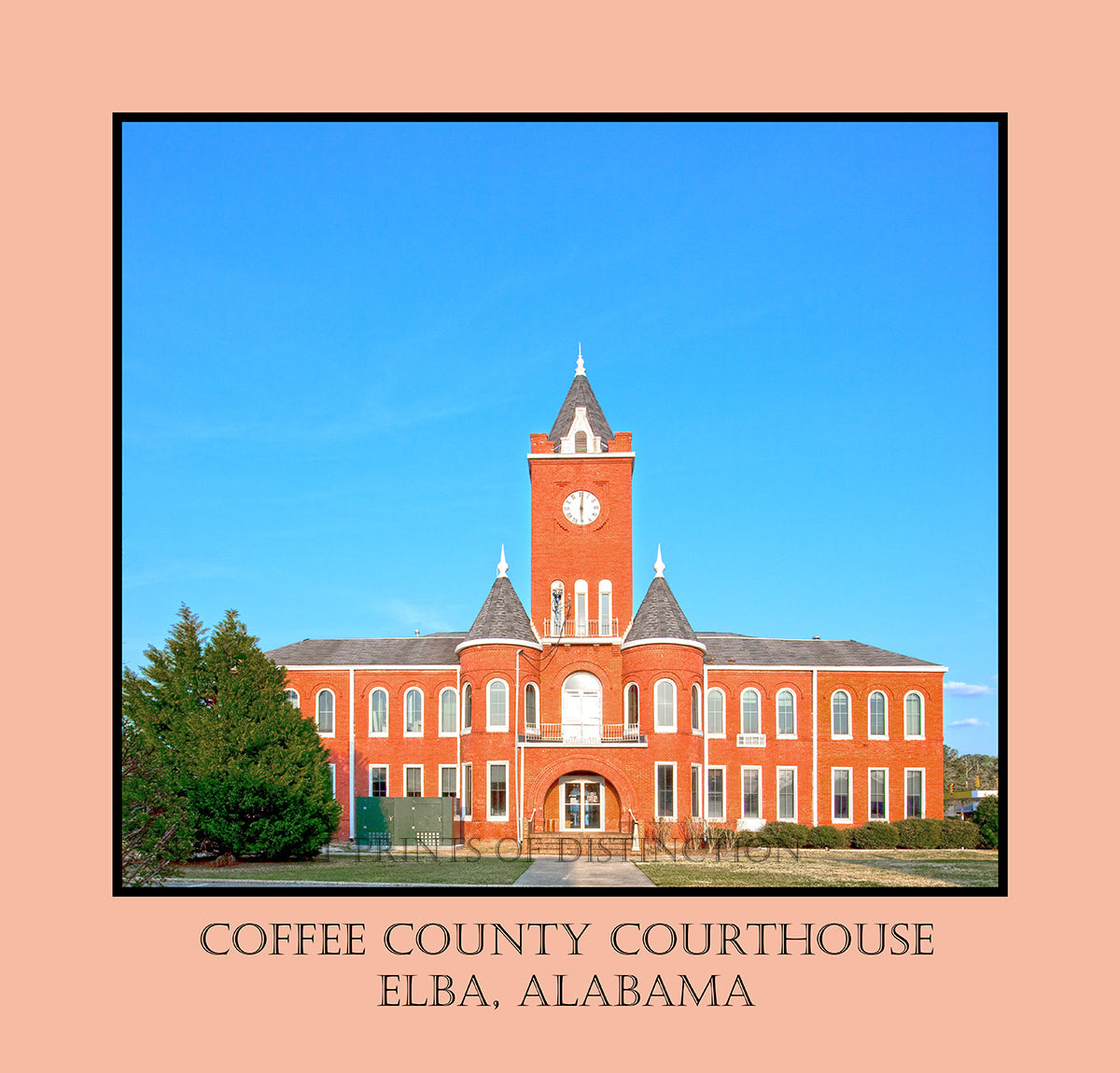 Coffee County Courthouse in Elba, Alabama Poster