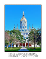 State Capitol Building at Hartford Connecticut poster print