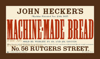 John Hecker's Machine Made Bread Advertisement