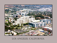 Aerial View of Downtown Los Angeles California Art Poster