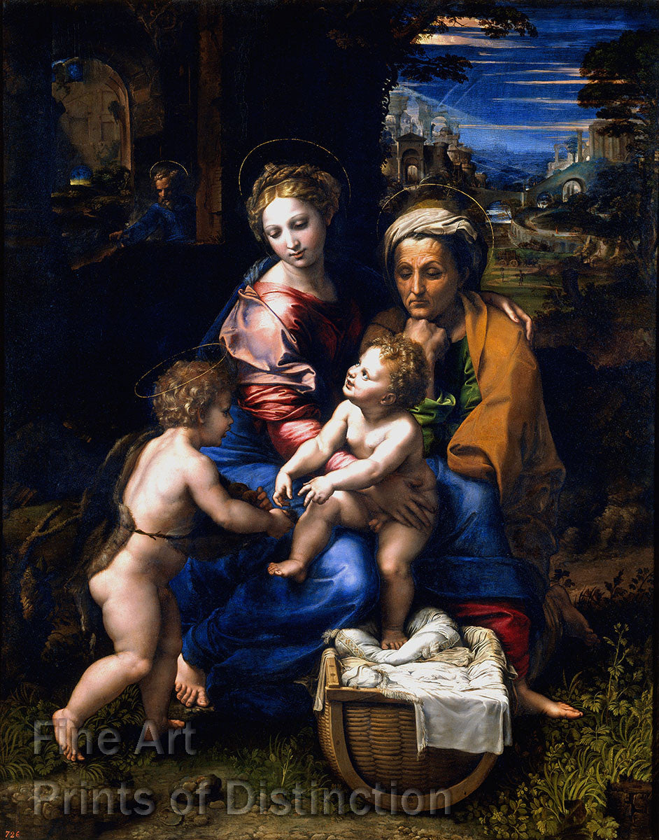 Raphael - The Pearl or Holy Family Fine Art Religious Print