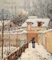 Snow at Louveciennes by Alfred Sisley Art Print