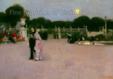 American in the Luxembourg Gardens by John Singer Sargent
