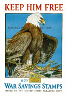 Keep Him Free a World War II Propaganda Poster Art Print