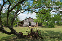 A Farming Scene at Gonzales Pioneer Village in Texas Art Print