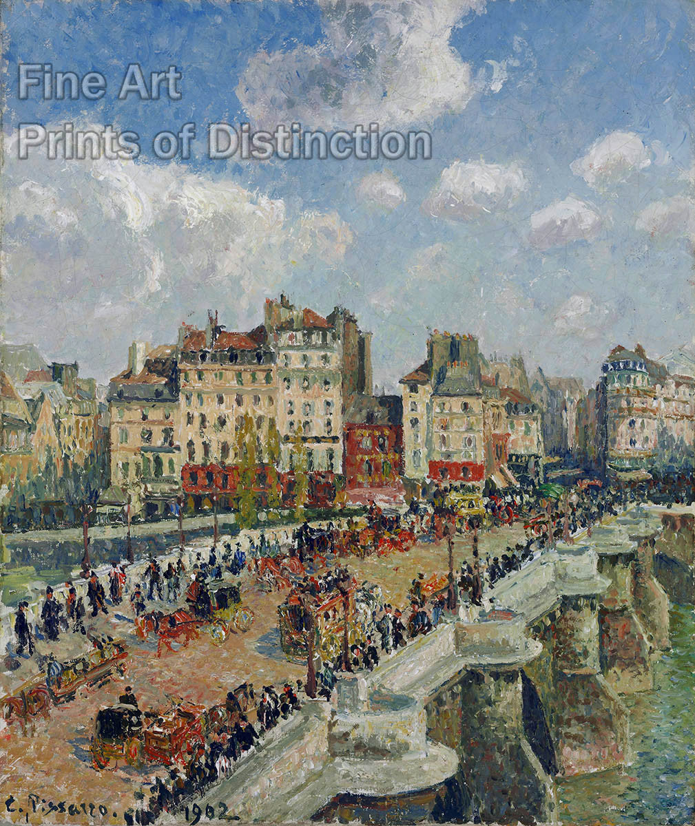 The Pont - Neuf by Camille Pissarro