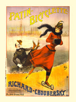 French advertisement for the Patin Bicyclette by Richard Choubersky in Paris
