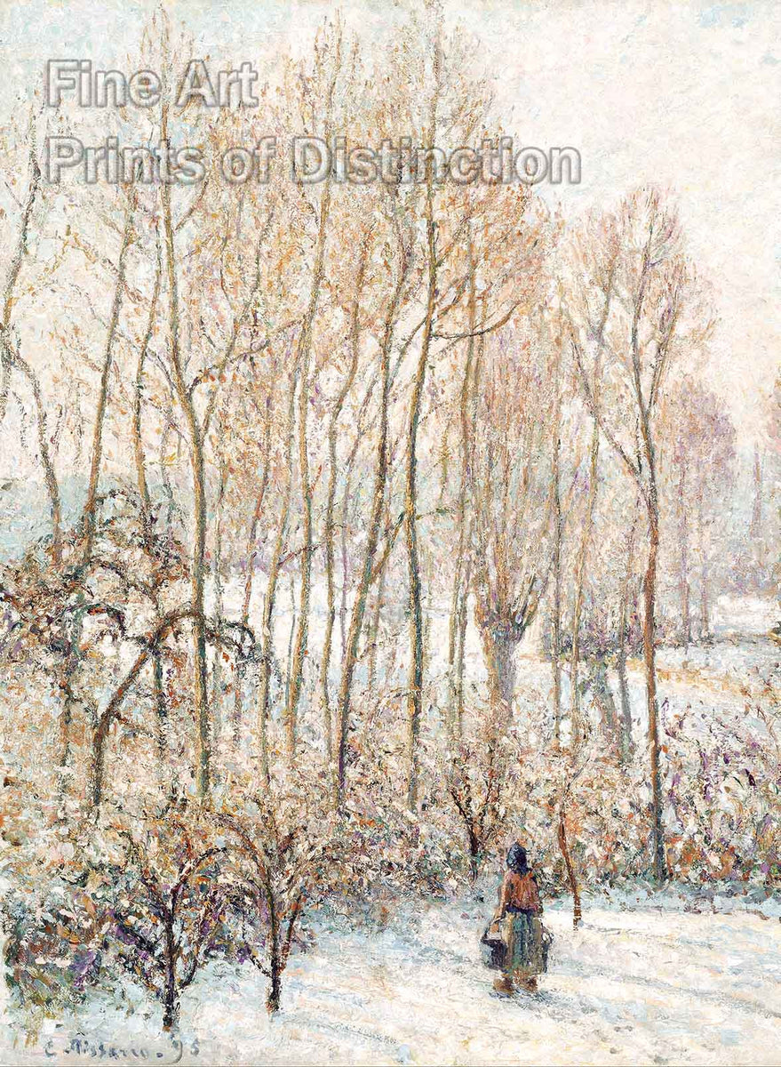 Morning Sunlight on the Snow by Camille Pissarro