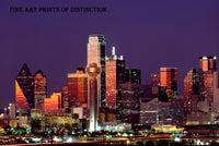 Skyline of Dallas Texas at Dusk Art Print