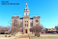 Shackleford County Courthouse in Albany, Texas art print