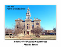 Shackleford County Courthouse Albany, Texas Poster Style Print
