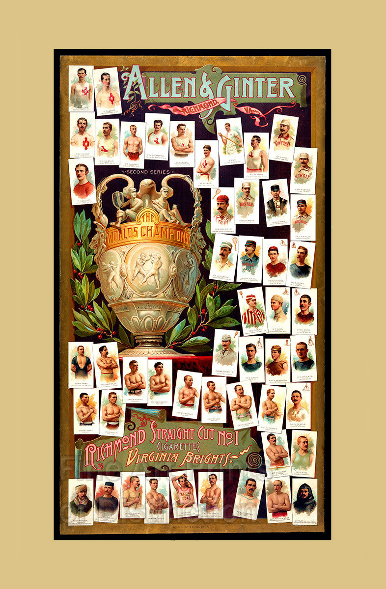 Allen and Ginter Cigarettes World Champions Advertisement