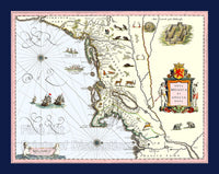 1635 Blaeu Map of New England and New York
