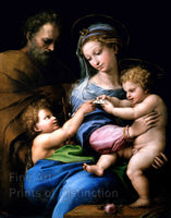 Madonna of the Rose painted by Raphael Art Print