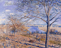 Banks of the Loing Autumn Effect by Alfred Sisley