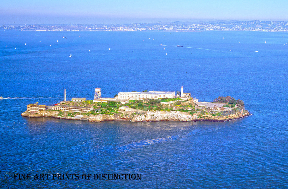 Alcatraz Island with San Francisco in the Background art print