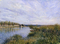 View of Saint Mammes by Alfred Sisley