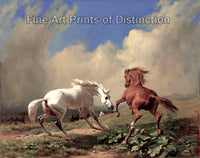 Horses Balking at an Approaching Storm by Rudolf Koller