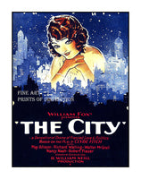 The City by William Fox 1926 Movie Poster Art Print
