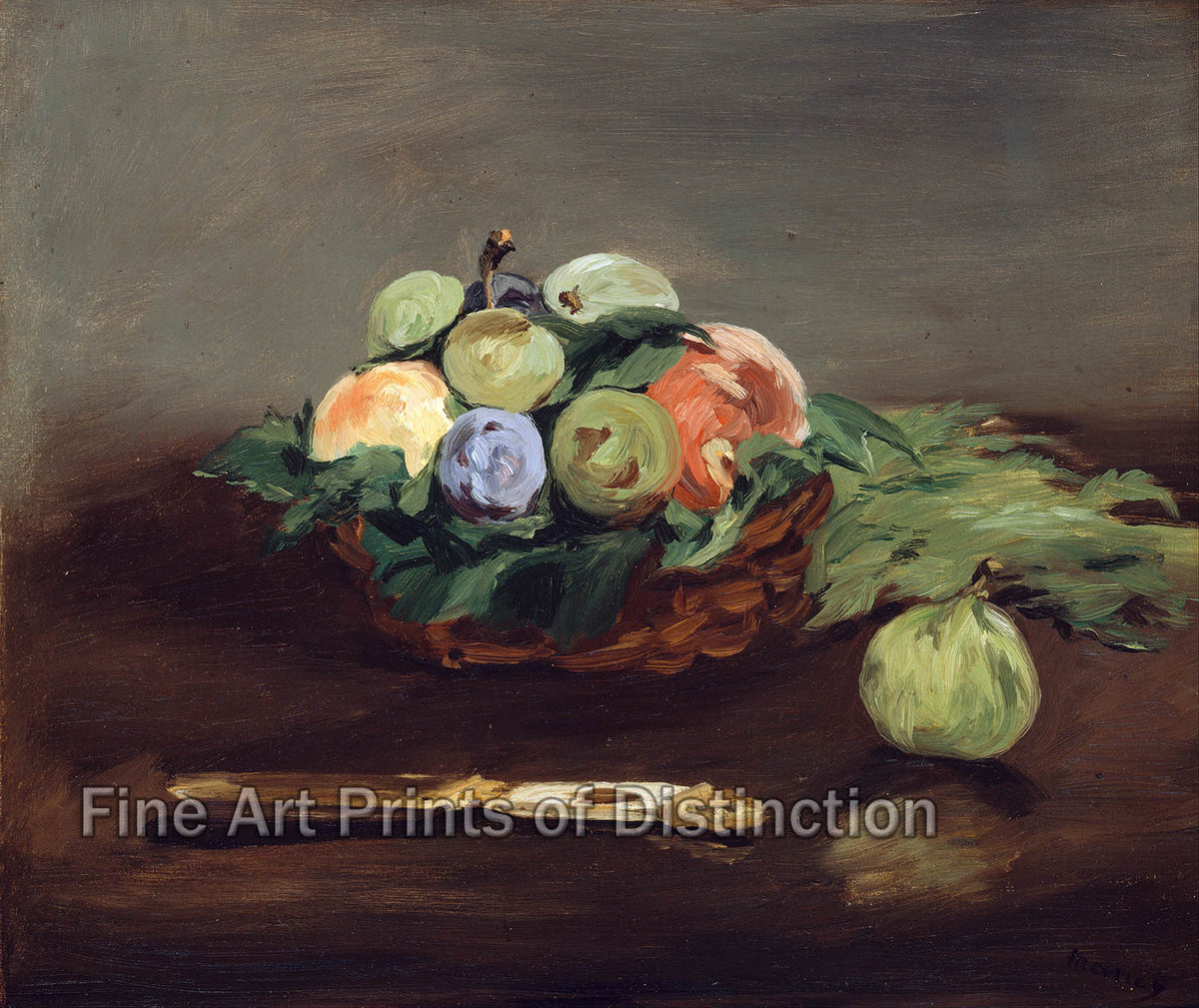 A Basket of Fruit by Edouard Manet