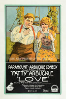 1919 movie poster of Love starring Fatty Arbuckle Art Print