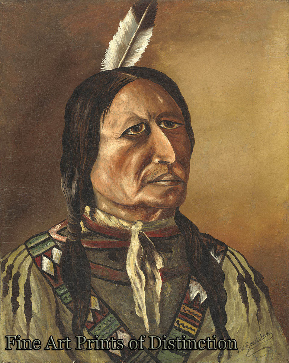 Bradshaw, J. W. - Plains Indian Fine Art Folk Print