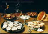 Dishes with Oysters, Fruit and Wine by Osias Beert the Elder