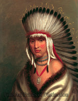King, Charles Bird - Petalsharro Native American Portrait