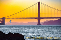 Golden Gate Bridge and Para sailor at Sunrise scenic art print
