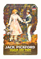 1918 silent film of Huck and Tom starring Jack Pickford Art Print