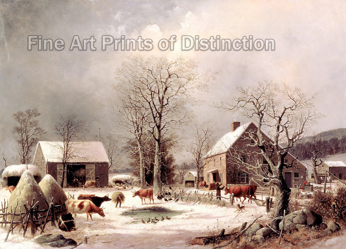 Farmyard in Winter by George Henry Durrie