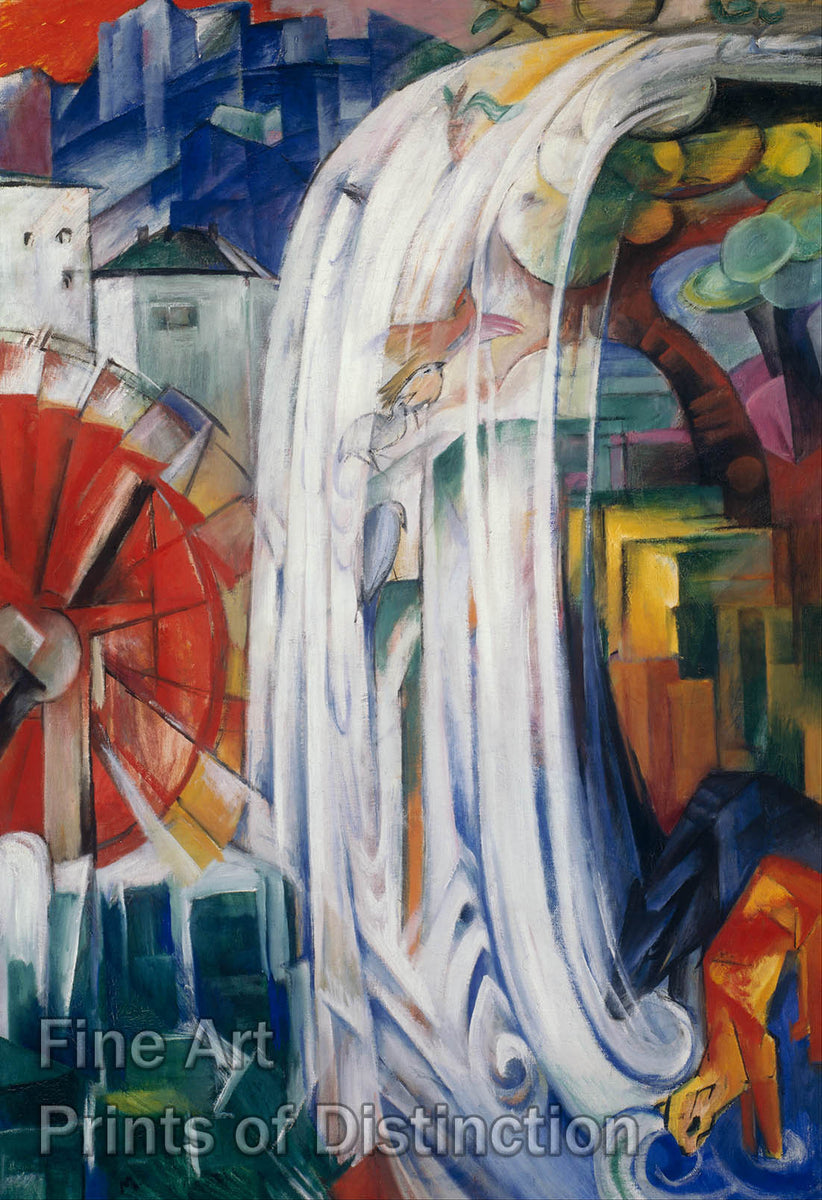 The Bewitched Mill by Franz Marc