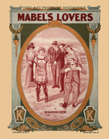 1912 movie poster for Mabel's Lovers Art Print