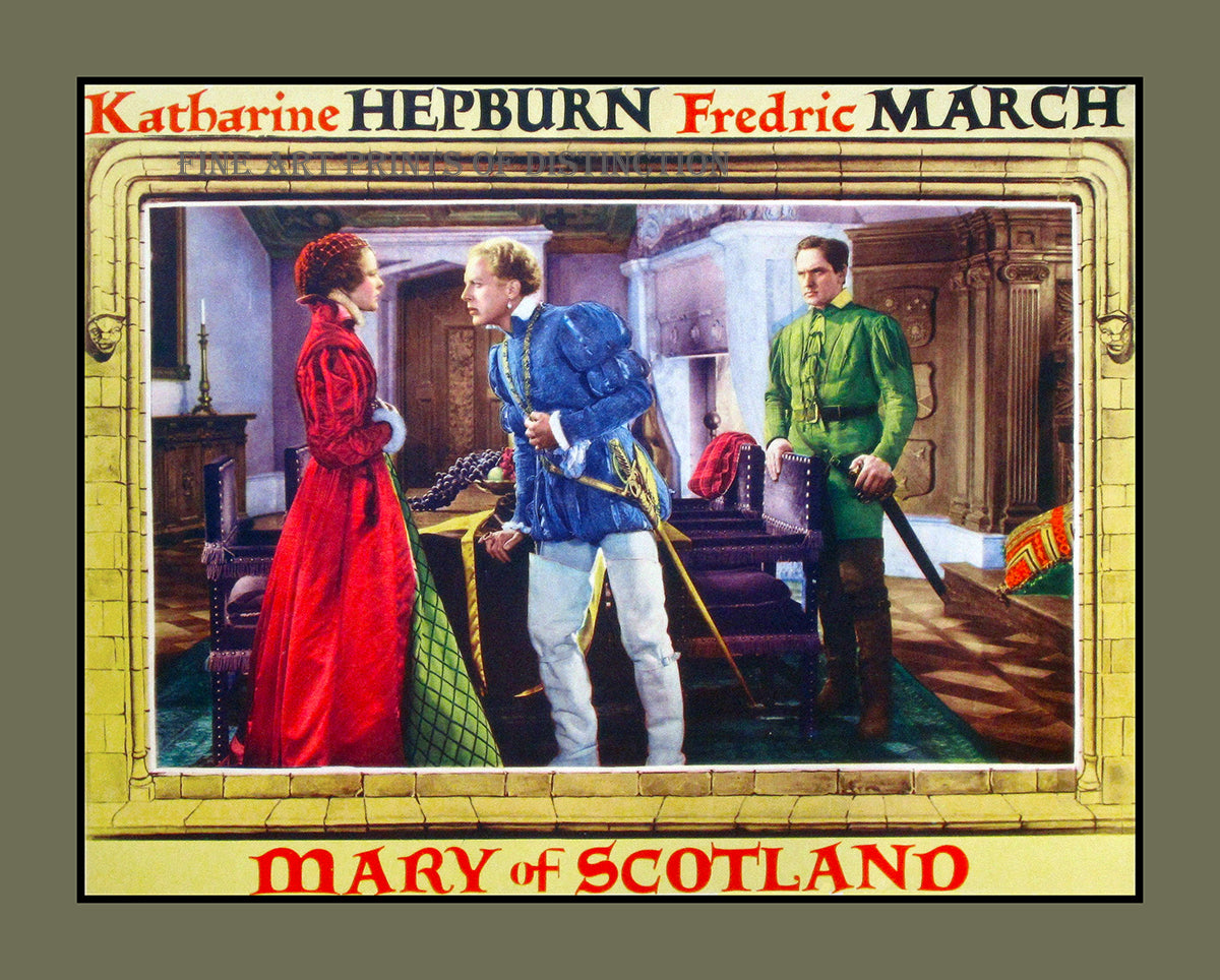 Mary of Scotland with Katharine Hepburn Movie Poster Art Print