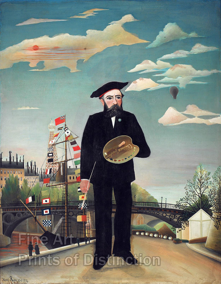 Myself, Portrait Landscape by Henri Rousseau