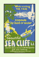 Sea Cliff Long Island, New York travel poster