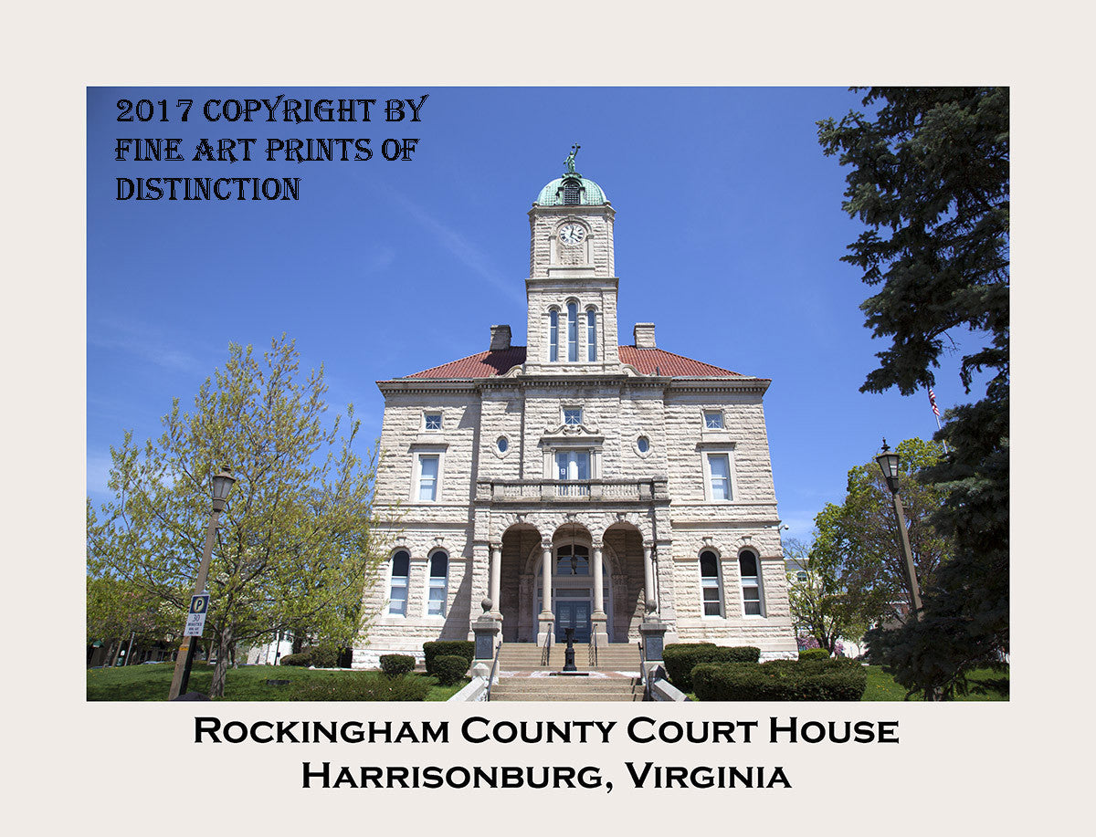 Rockingham County Courthouse Art Print with Border