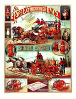 Fire Extinguisher Manufacturing Co Chemical Engines Advertising Print