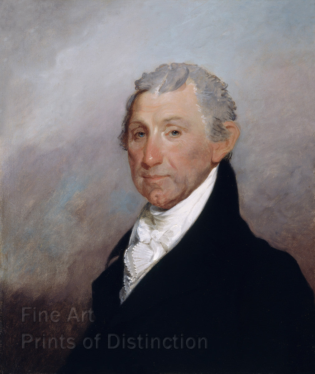 James Monroe Portrait painted by Gilbert Stuart in 1817