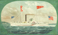 The Steamer St. Lawrence by James Bard Art Print