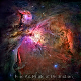 Orion Nebula as taken from the Hubble Space Telescope Art Print