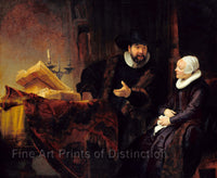 Mennonite Preacher Anslo and Wife by Rembrandt