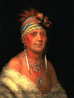 King, Charles Bird - Monchousia Native American Portrait
