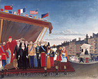 The Representatives of Foreign Powers Coming to Salute the Republic as a Token of Peace by Henri Rousseau