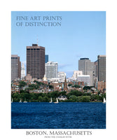Poster Style Print of Boston, Massachusetts from the Charles River