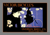1896 Victor Bicycle Advertisement by the Overman Wheel Company