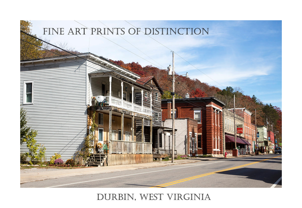 Fine Art Poster of Main Street Durbin, West Virginia